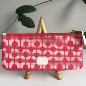 Fossil Pink Paige Pencil/Cosmetic Pouch